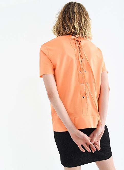 People By Fabrika Sırt Detaylı Tişört Oranj